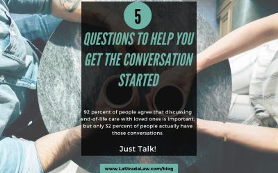 Just Do Something! Step 2: Talk!