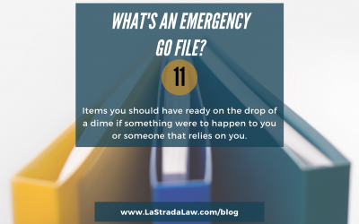 Just Do Something!  Step 3: Create an Emergency Go File